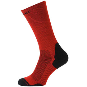 Odlo Ceramiwarm Socks long fiery red-black